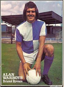Alan Warboys of Bristol Rovers