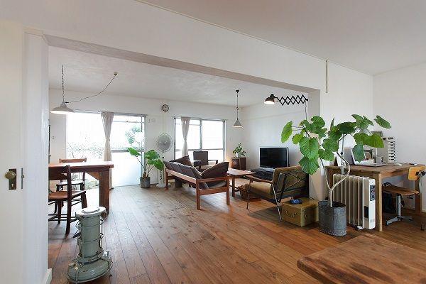 名古屋市天白区の松美建設の手がける、名古屋市名東区の古い公団リノベーション スケルトンリフォーム 古い 日本の木の家具が似合う部屋