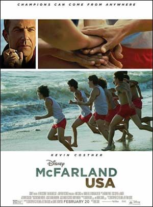 New films: McFarland, USA (Kevin Costner); The Duff; Hot Tub Time Machine 2; Badlapur; and Wild Tales