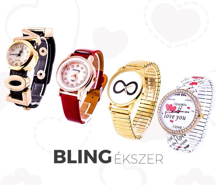 Valentin-napi ajánlatunk között vannak ezek az igazán csajos órák is!  Elfogadnátok? wink hangulatjel Itt megtaláljátok őket : https://www.blingekszer.hu/kollekci…/valentin-nap/category/6