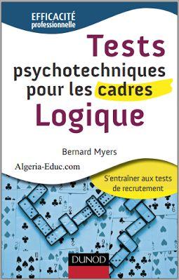 Livre : Tests psychotechniques pour les cadres, Logique en pdf ~ Cours D'Electromécanique
