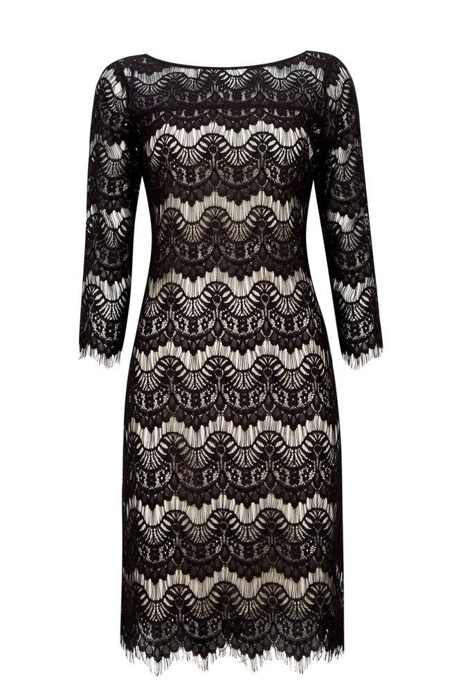 Wallis Black Lace Shift Dress Size Uk 14 Rrp 45 Dh089 Ll 05 Fashion Clothing Shoes Accessories Womensc Black Lace Shift Dress Lace Shift Dress Shift Dress