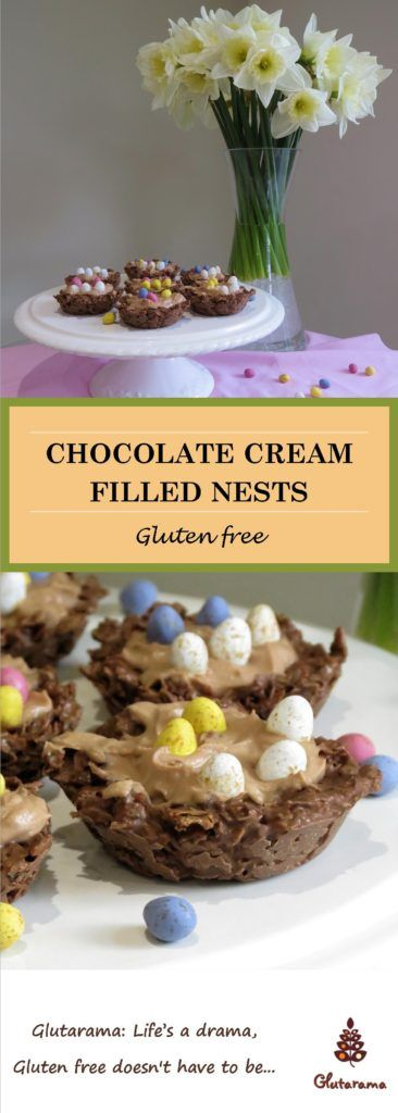Quick Chocolate Cream Nests #FreeFromEaster