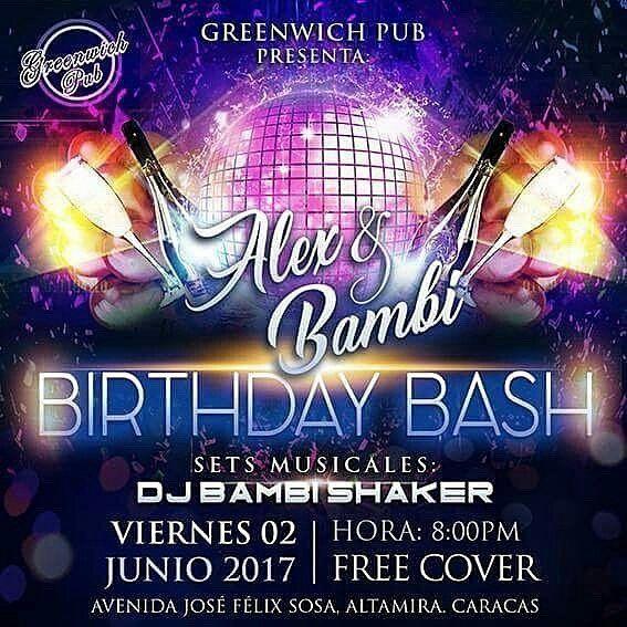 @Regrann from @djbambishaker - Mañana es la celebración oficial! Ajá! Mañana viernes #02junio te invitamos al mejor irish pub de Caracas: @greenwichpubccs donde por 3er año consecutivo estaremos celebrando los cumpleaños de @lalexgreenwich y @djbambishaker     Te esperamos para que brindes con nosotros en el mejor point al estilo irlandés!   FREE COVER! (Entrada Gratuita)    Sets musicales a cargo de @DjBambiShaker    Performace de Danza Tribal a cargo de la bailarina @analesca e invitadas…