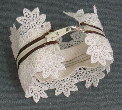 Zipper and Lace Bracelet