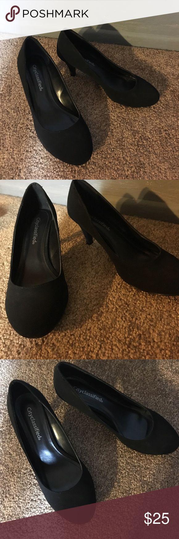 Cute Black heels! Cute black heels in good condition! Shoes Heels