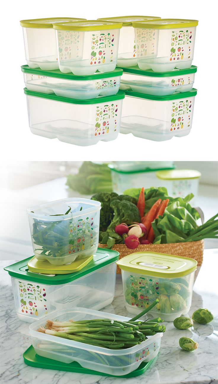 FridgeSmart® 4-Pc Set. Thanks to the unique venting system, your summer produce will stay fresher longer.