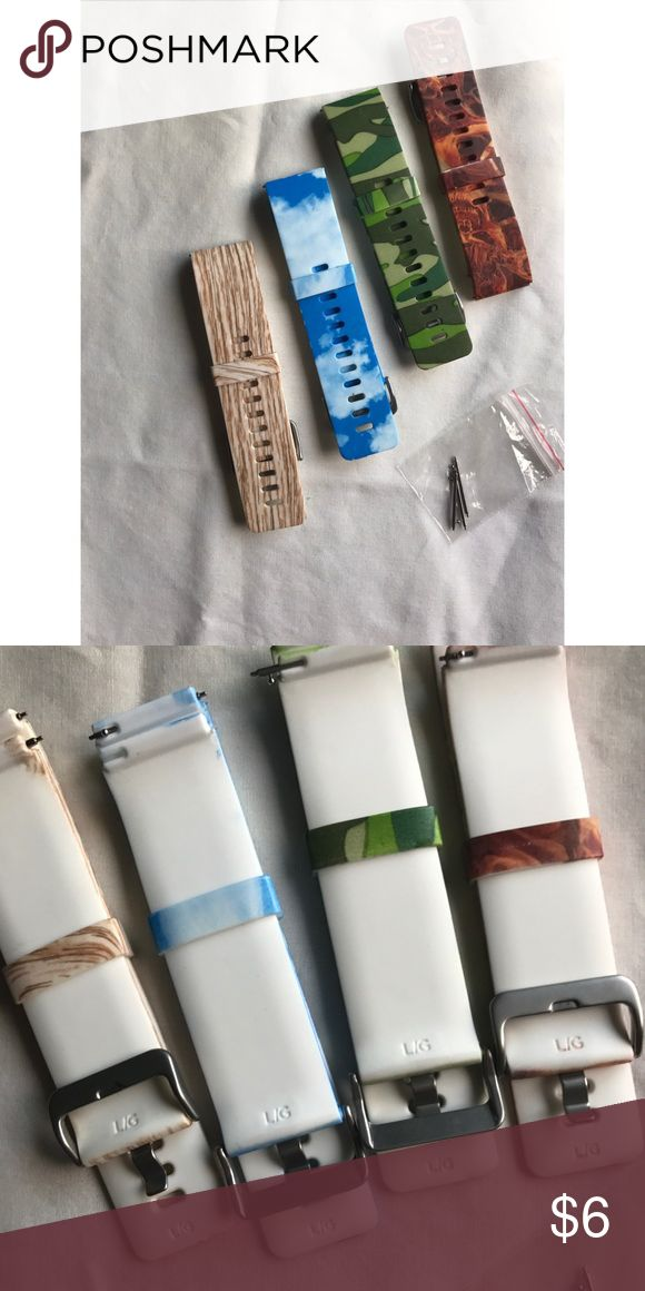 Fitbit bands! 4 Fitbit bands. Never used size large! No need for them. Also includes some clasps! Great condition, from Smoke free home! Don't forget to bundle and save! fitbit Accessories Watches