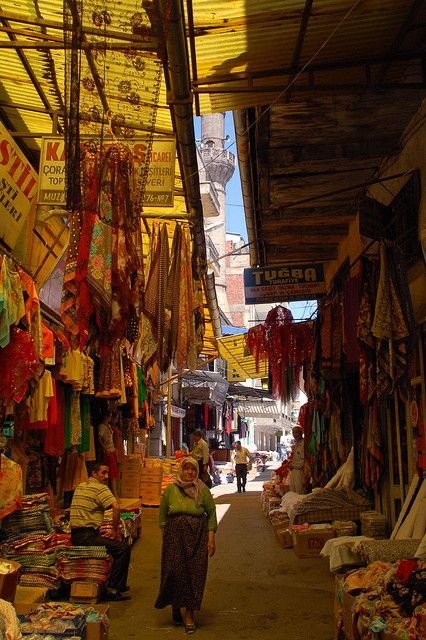 Old Ankara market street
