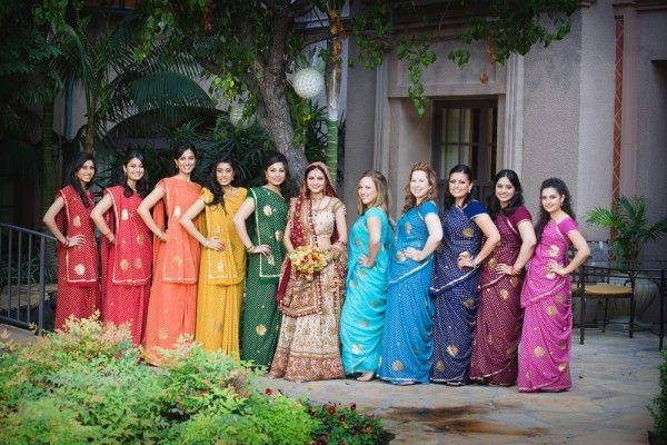 #BridesMaids #bridesmaidsdresses #Beautiful #Bollywood #Style #Indian #wedding #bride #marriage #shadi #india #RED #dulhan #pink