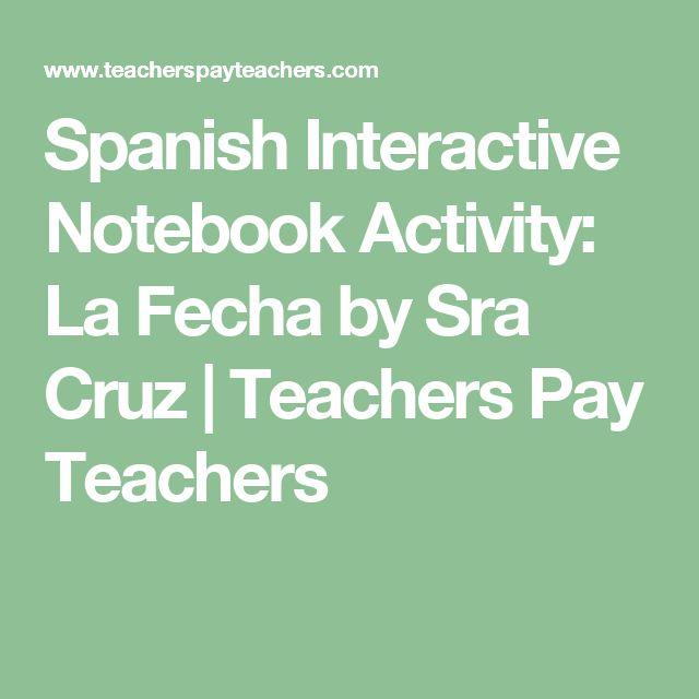 Spanish Interactive Notebook Activity:  La Fecha by Sra Cruz | Teachers Pay Teachers