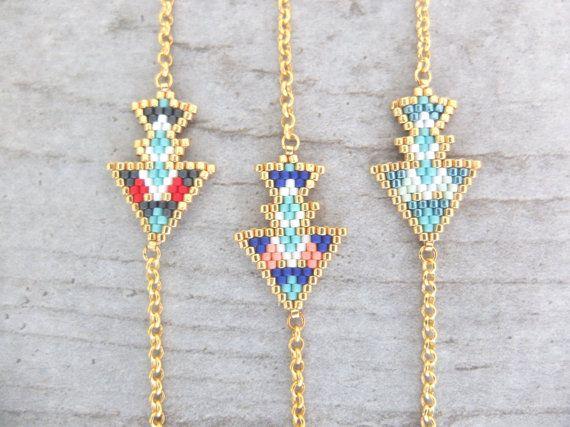 Bracelet ethnique tissé à l'aiguille perles par MyFrenchTouchBijoux