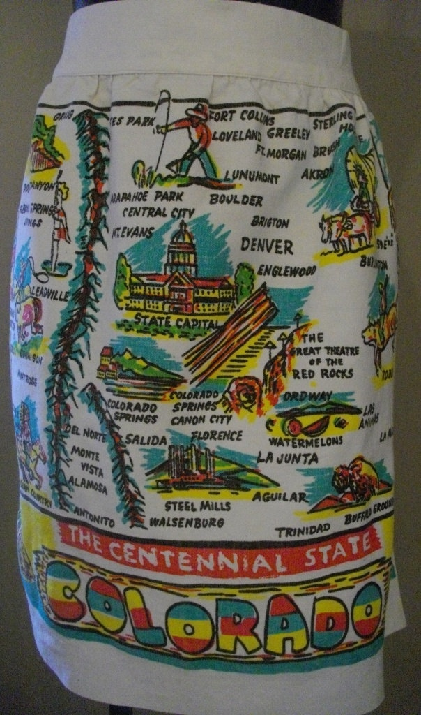 Colorado state map apron 259 best Maps