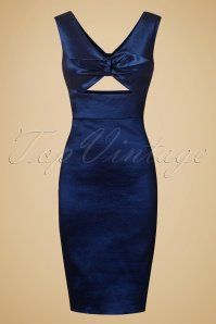 In maat 14 :)  Dolly and Dotty Blue Shiny Pencil Dress 100 30 20725 20170103 0005w