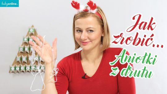 Jak zrobić aniołki z drutu na choinkę