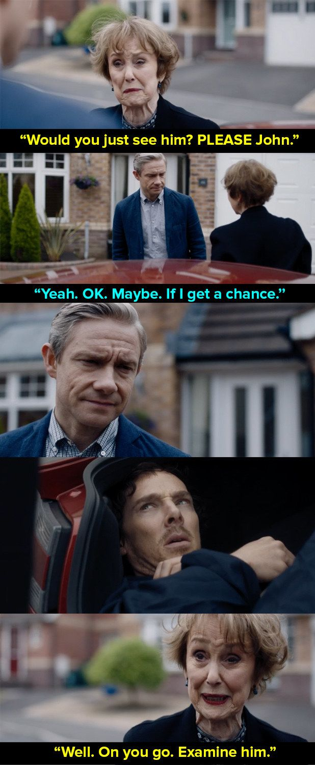 "And finally, when Watson and Sherlock weren't speaking so Mrs Hudson launched a cunning plan. | 14 Times Mrs Hudson Was The Best Thing About ""Sherlock"""