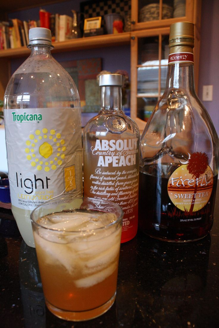 Spiked Peach Tea - the Cocktail of the Summer