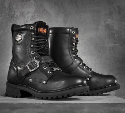 boots homme harley,boots harley davidson ranger en cuir noir