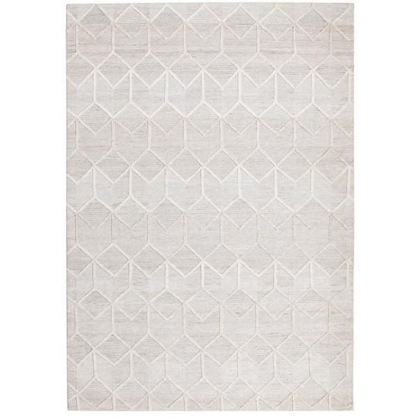 Vienna 2355 Hand Loomed Grey Beige Patterned Wool And Viscose Modern Rug Modern Rugs Rugs Floor Area Rugs