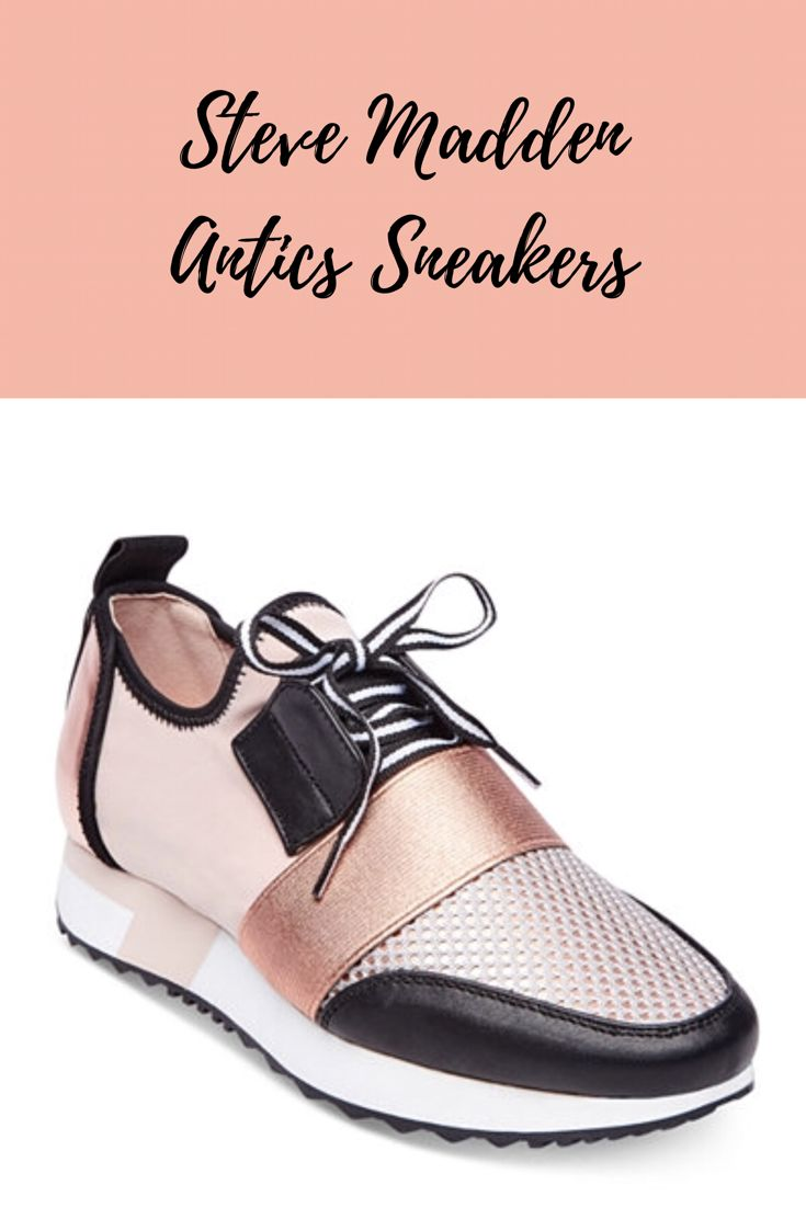 Love these sneakers!! | DSW | Women's sneakers | rose gold sneakers | rose Gold | fashion sneakers | women's shoes | Affiliate