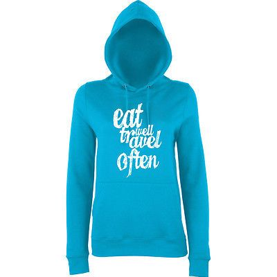Eat well and #travel often #women hoodies #white all sizes hawaiian blue,  View more on the LINK: http://www.zeppy.io/product/gb/2/122136799340/