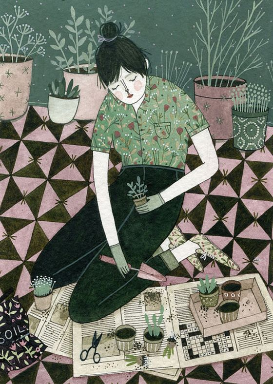 I've fallen fast in love with Yelena Bryksenkova's watercolor and gouache paintings. Her reading ladies just look so relaxed and...