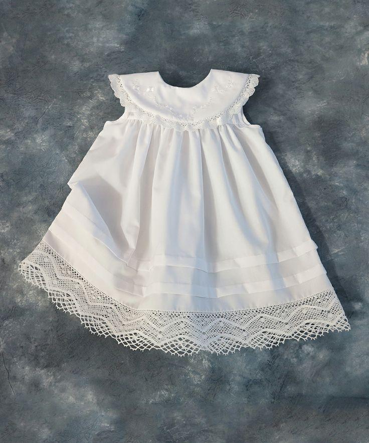 White Lace-Trim Yoke Dress - Infant & Toddler | zulily