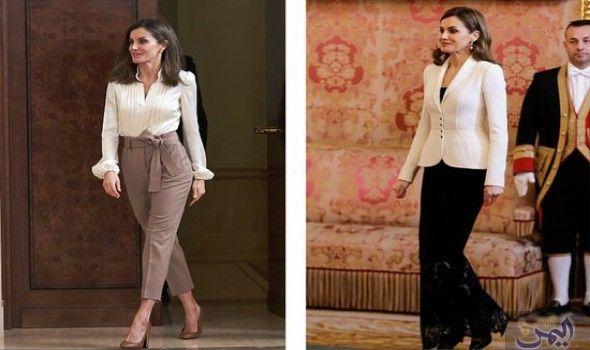 الملكة لاتيسيا تتفو ق على كيت ميدلتون في حري ة اختيار ملابسها Fashion Coat Pantsuit