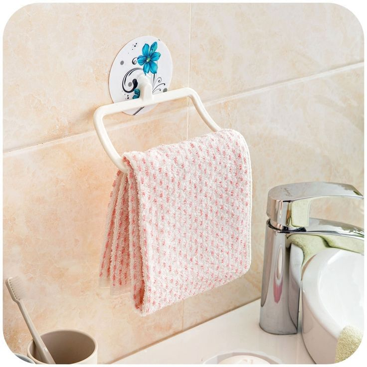 Reusable Wall-mounted Shaver holder plastic bath towels for kitchen storage rack bathroom accessories #Affiliate