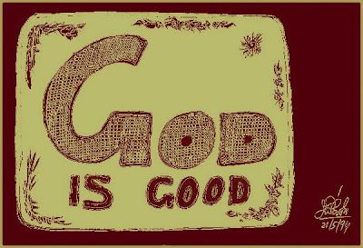 "Doodle on ""God is good."""