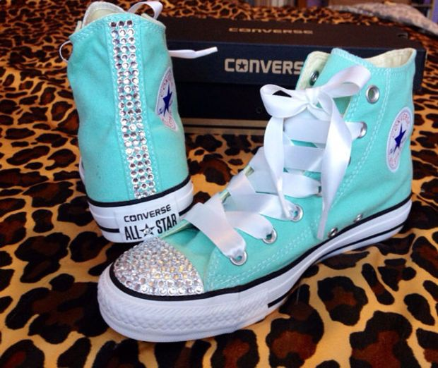 Tiffany Blue Converse Shoes