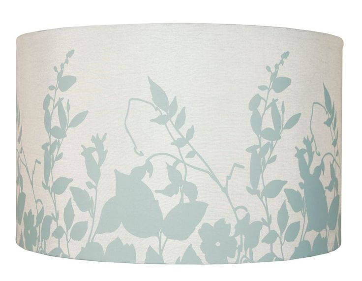 Colours Claudia Duck Egg Blue Floral Silohette Light Shade (Dia)300mm | Departments | DIY at B&Q