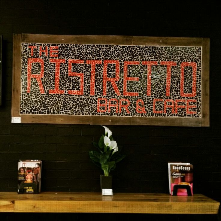 Ristretto-project mounted on wall.