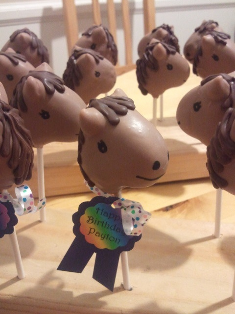 Horse cake pops - maybe for Kennedy's birthday
