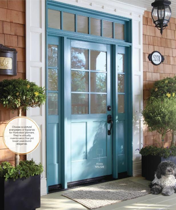 Beach house front door paint it navy blue front door - Pictures of blue front doors ...