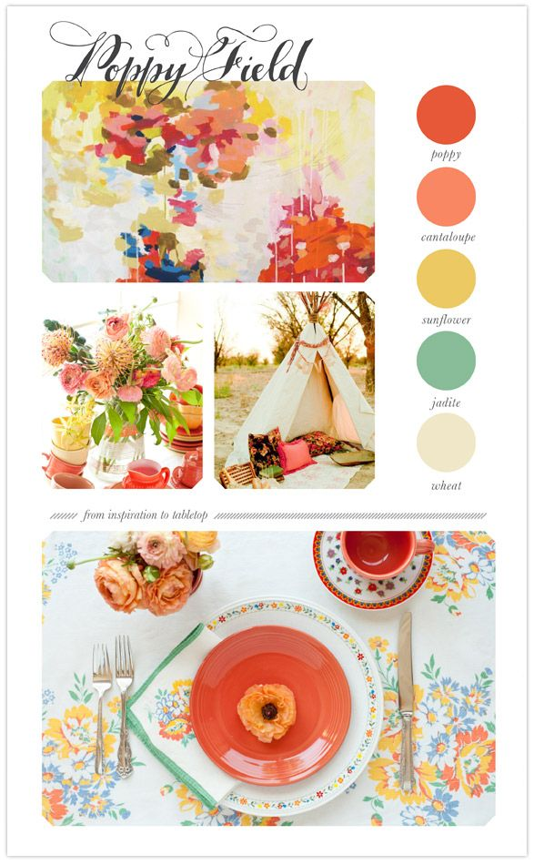 THIS PALETTE. bright-spring-tabletop-ideas #100layercake