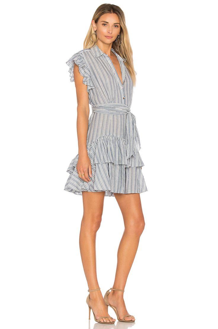 Rebecca Taylor Stripe Dress in Blue & Milk | REVOLVE