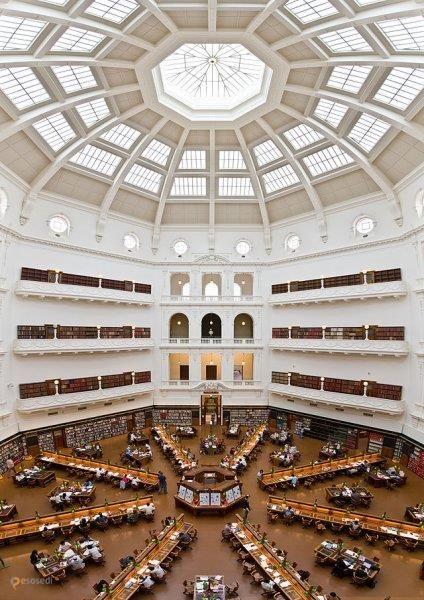 Государственная библиотека Виктории – #Австралия #Виктория #Мельбурн (#AU_VIC) Крупнейшая библиотека штата Виктория в Австралии.  ↳ http://ru.esosedi.org/AU/VIC/1000241367/gosudarstvennaya_biblioteka_viktorii/