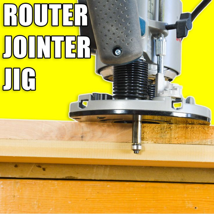 Router Jointer Jigs: How to Edge Joint Wood with a wood router. #woodworking #woodworkingprojects