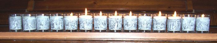 stations of the cross votives