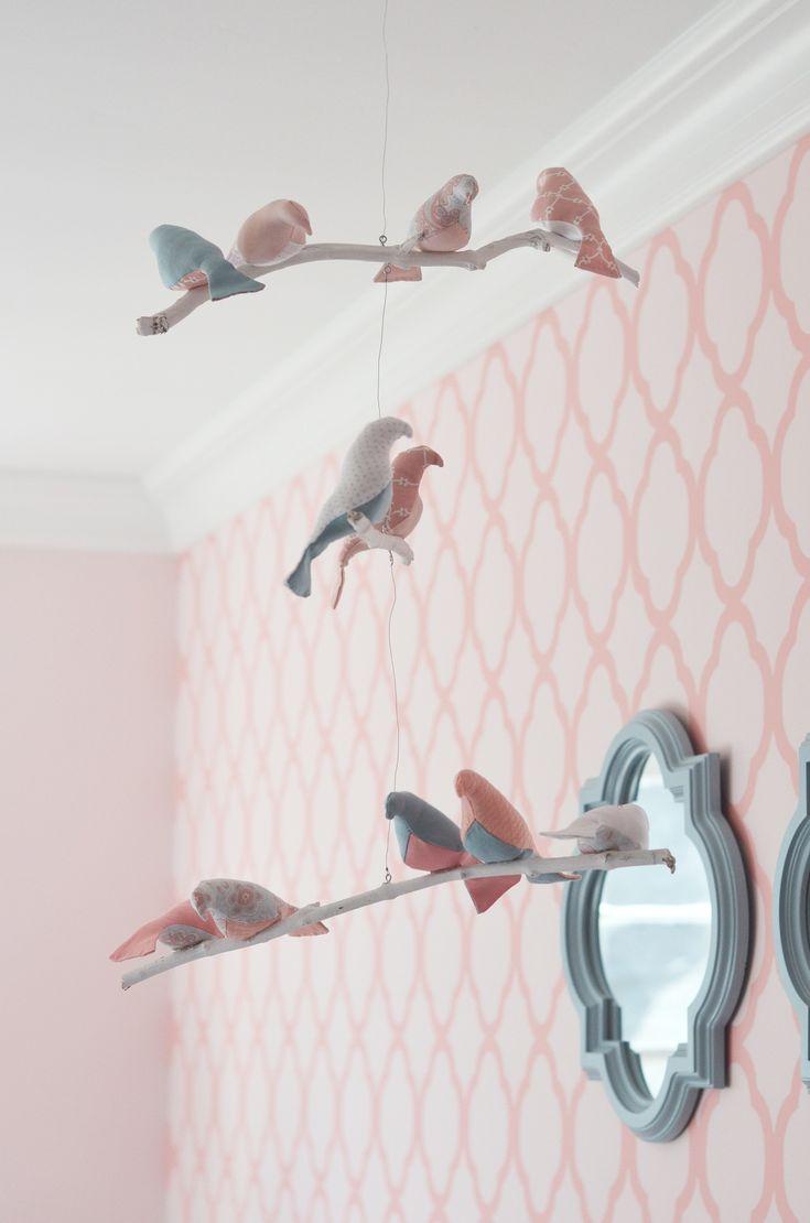 Simply adorable bird mobile