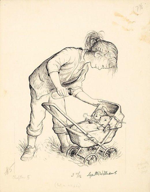 """иллюстрации для """"Гарта Уильямса Паутина Шарлотты"""""""