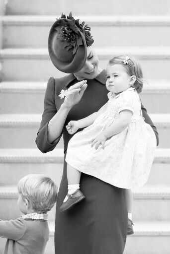 Kate, George and Charlotte.