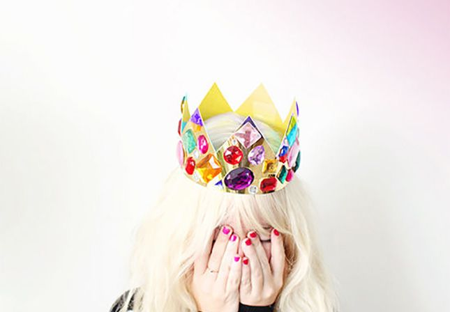 New Year's Eve party hats from Brit + Co