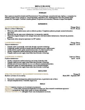 Template 3 Resume Format Resume Format Examples Resume Format