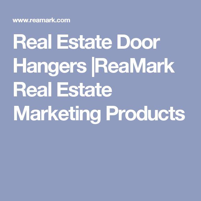 Real Estate Door Hangers |ReaMark Real Estate Marketing Products