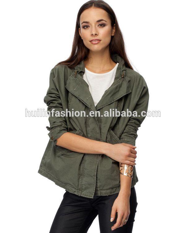 2014 high quality fashion military jacket fashion women/ cotton jacket for women