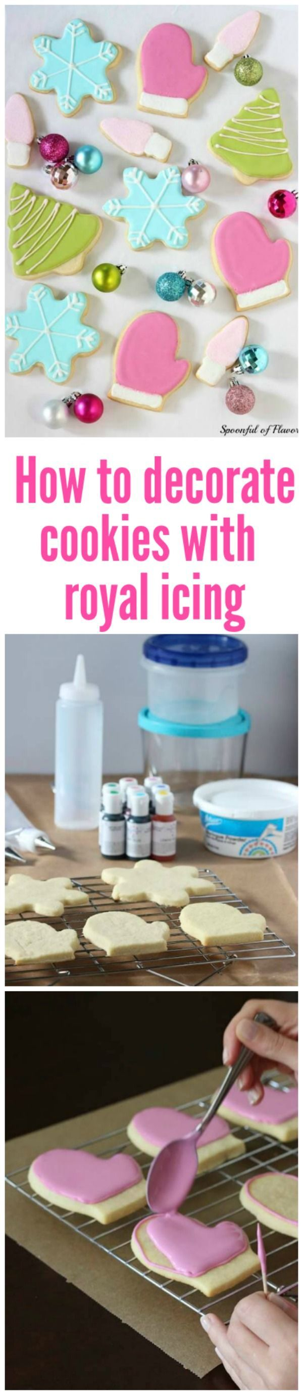 Tips and techniques for how to decorate cookies with royal icing!