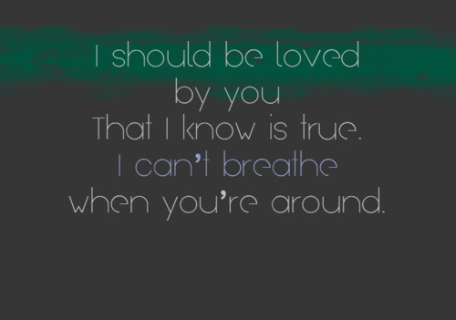 Lyrics to the song calling you by blue october