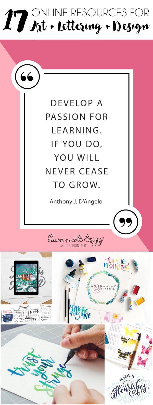 17 Online Resources for Learning Lettering, Art, + Design